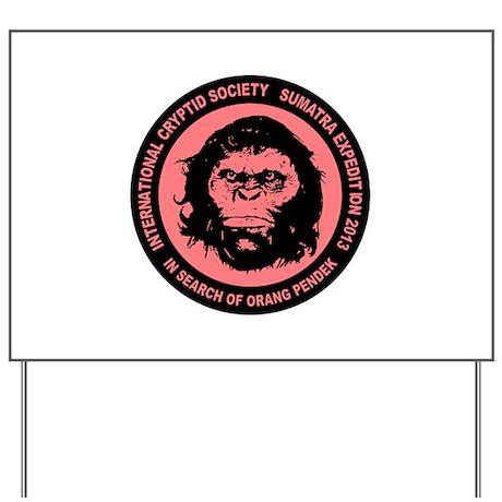 Orang Pendek - Asia's Bigfoot Yard Sign