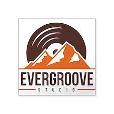 "Square Sticker 3"" x 3"" w/ Evergroove Log"