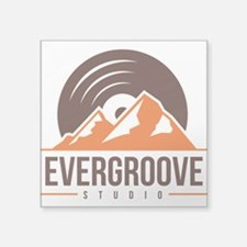 "Square Sticker 3"" x 3"" w/ Evergroove Log"