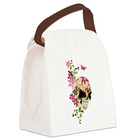SugarSkullStargazersTall Canvas Lunch Bag
