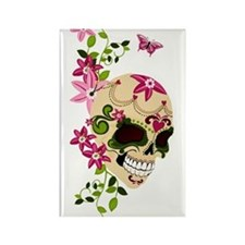 SugarSkullStargazersTall Rectangle Magnet
