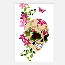 SugarSkullStargazersTall Postcards (Package of 8)