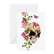 SugarSkullStargazersTall Greeting Card
