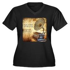 Digital Sucks! Women's Plus Size V-Neck Dark T-Shi