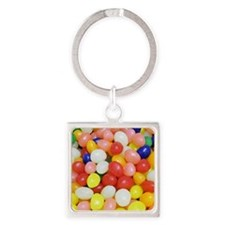 Jelly Beans Square Keychain