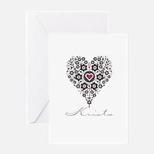 Love Krista Greeting Card