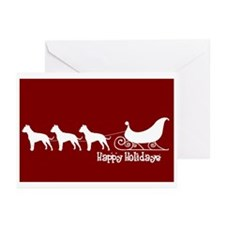 "Pit Bull ""Sleigh"" Greeting Cards (Pk of 10)"