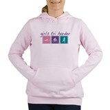 Girls tri harder Hooded Sweatshirt