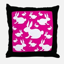 Bunny Rabbit Pattern Throw Pillow