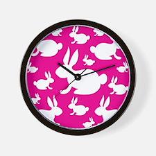 Bunny Rabbit Pattern Wall Clock