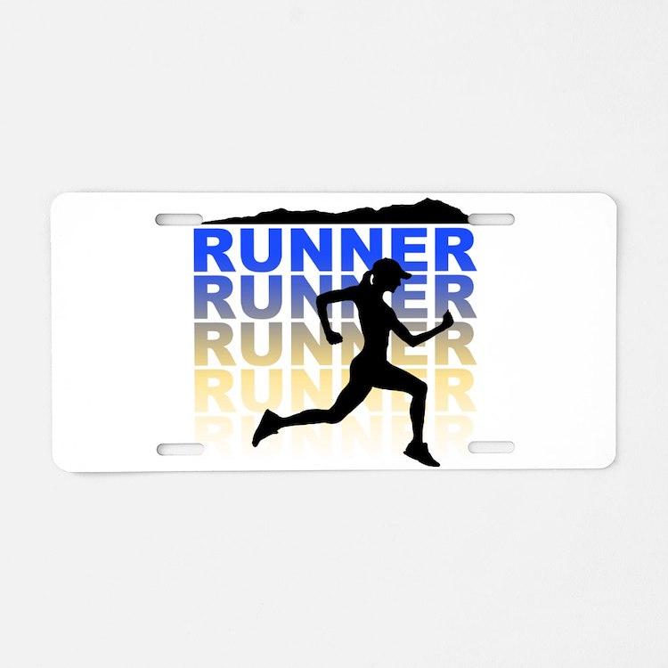 runner Aluminum License Plate