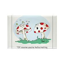 Hallucinating Mushroom Rectangle Magnet