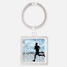 runner.png Square Keychain