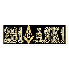 2B1ASK1 Black Bumper Bumper Sticker