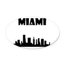 Miami Oval Car Magnet