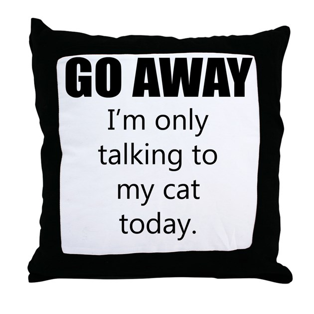 When Should I Throw Away My Pillow : Go Away Throw Pillow by QuirkyGraphicDesign