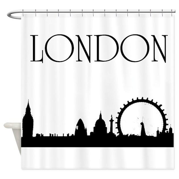 London shower curtain by rainbowfarts for Bathroom ideas london