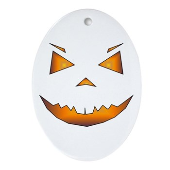 Jack-O Oval Ornament