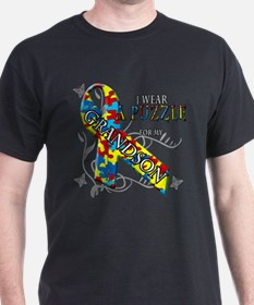 I Wear A Puzzle for my Grandson T-Shirt