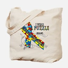 I Wear A Puzzle for my Granddaughter Tote Bag