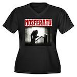 Nosferatu Design-02 Women's Plus Size V-Neck Dark