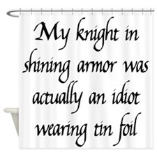 Knight in Shining Armor Shower Curtain