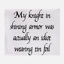 Knight in Shining Armor Throw Blanket