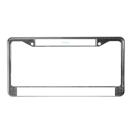 Snowboard Stoned License Plate Frame