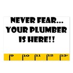 Ruler Never Fear..Plumber Postcards (Package of 8)