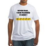 Ruler Never Fear..Plumber Fitted T-Shirt