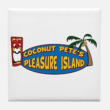 Coconut Pete's Pleasure Islan Tile Coaster