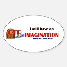 OTRNow Imagination Sticker Sticker (Oval)