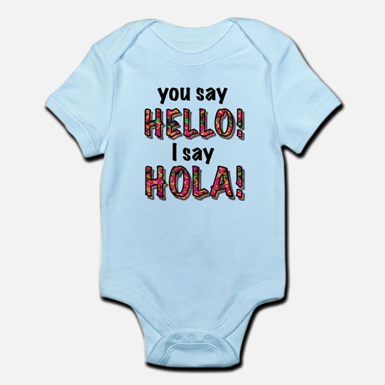 you say hello i say hola, gifts Body Suit
