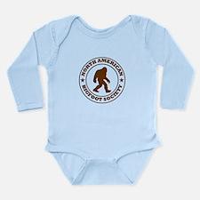 N. American Bigfoot Society Long Sleeve Infant Bod