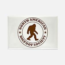 N. American Bigfoot Society Rectangle Magnet