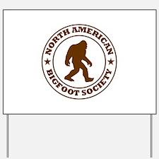 N. American Bigfoot Society Yard Sign