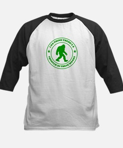 Squatch in These Woods Kids Baseball Jersey