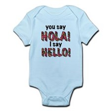 you say hola i say hello, gifts Body Suit