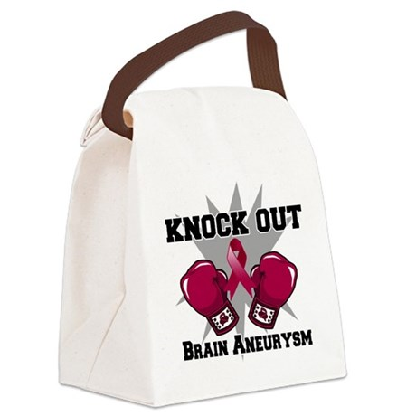 Knock Out Brain Aneurysm.png Canvas Lunch Bag