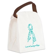 PCOS Awareness Butterfly Canvas Lunch Bag