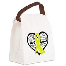 Suicide Prevention Awareness Canvas Lunch Bag