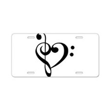 Cute Music Aluminum License Plate