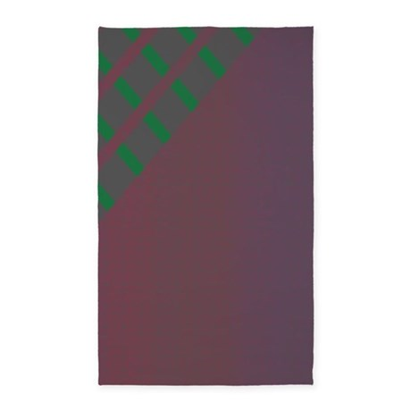 Plum Green Gray 3'x5' Area Rug