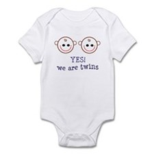 Yes we are twins Infant Creeper