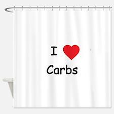 I love Carbs Shower Curtain