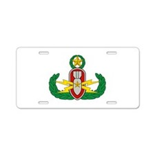 EOD Master in color Aluminum License Plate