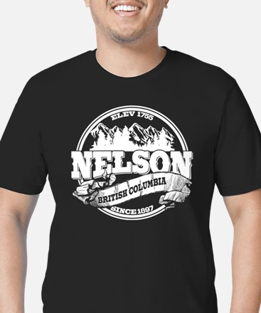 Nelson Old Circle Men's Fitted T-Shirt (dark)