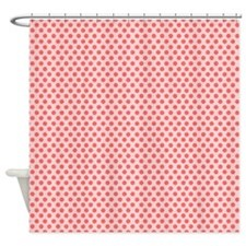 Red Dots Shower Curtain