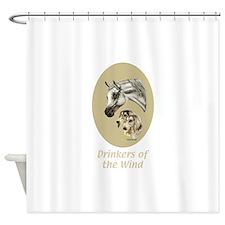 Arabian & Saluki Shower Curtain