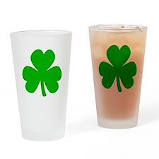 Three Leaf Clover Drinking Glass